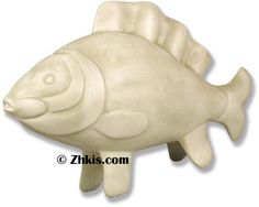 Large fish statue display a huge finish to display in your Lake home or beach house. This finishes 3 feet long and 2 feet high made from durable fiberglass and suitable for indoors and outdoors.