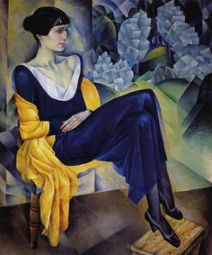 Painting by Nathan Altman (1889-1970), 1914, Portrait of Anna Akhmatova, oil on canvas.  Anna Akhmatova(1889–1966), Poetess, leading figure of the Silver Age. (Russian)