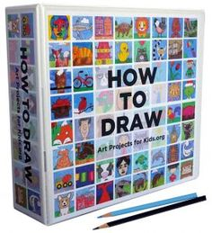 """New """"How to Draw"""" eBook with 200 tutorials. Print and make your own binder, or save on a flash drive for portability. Original tutorials by a seasoned art teacher."""
