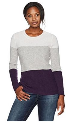 Cashmere 12-Gauge Ribbed Colorblock sweater d1660dc5dff4
