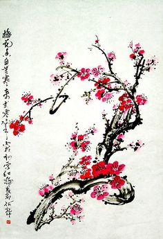 """●  Lovely! - """"Chinese painting plum"""""""