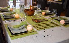 Ropa de mesa; manteles, individuales, caminos, servilletas para la mesa elegante