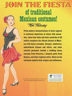 Mexikói néptáncosok - Mexican Folk Dance Paperdolls