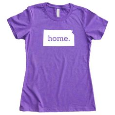 Kansas Home State T-Shirt Women's Tee - Multiple Colors Sizes S-XXL on Etsy, $22.95