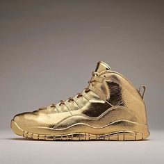 "Air Jordan 10 x OVO ""24 Karat Gold"""