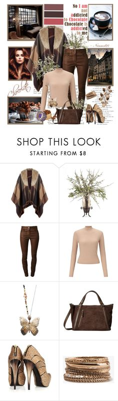 """""""Chocolate and pecans..."""" by nannerl27forever ❤ liked on Polyvore featuring Prada, Accessorize, Frontgate, Givenchy, Miss Selfridge, James Banks Design, UGG, RAPHAEL YOUNG, Forever 21 and Harrods"""