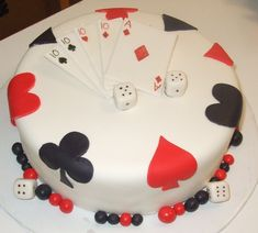 Playing Card Cake — Poker Cakes / Las Vegas Casino Gambling cakepins.com