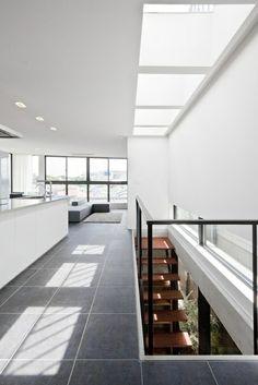 Large grey tiles  #interior