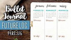 Der Future Log im Bullet Journal: In diesem Video zeige ich dir, wofür du den Future Log brauchst und wie du ihn gestalten kannst. Denn da gibt es verschiedene tolle Möglichkeiten! Future Log Bullet Journal, Bullet Journal 2019, Bullet Journal Tracker, Bujo, Workshop, Videos, Youtube, Bullet Journal Ideas, Amazing
