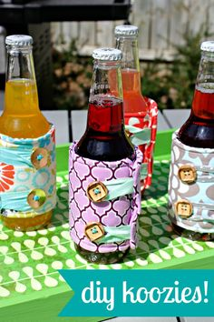 "DIY Koozies | A Prudent Life..""Easy Peasy … even for a very beginner (I promise!)"""