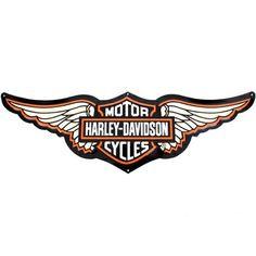 Harley-Davidson Symbol with Wings | Tin Sign - Bar & Shield Logo with Wings - Harley-Davidson, 99350-09V