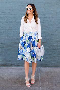 Blue Hydrangea Skirt!