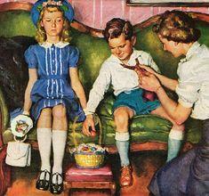 Detail - Harry Anderson advertising art.  Source is here: http://harryandersonart.com/ad-art.html