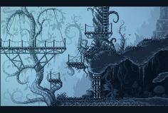 Pixel Joint Forum: Inmost (Metroidvania game WIP) Game Design, Game Level Design, Cyberpunk Aesthetic, Pixel Art Games, Weird Dreams, Geek Art, Art Studies, Landscape Art, Platform Games