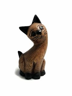 """Dark Smiling Lion Lounging Statue 5.5/"""" Long Figurine Historical Ancient Egypt"""