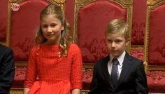 21 juillet 2013 sacre du  nouveau roi philippe et reine mathilde les enfants du couples royales