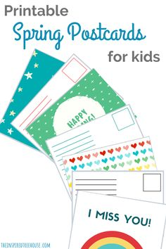 The Inspired Treehouse - These free postcard templates for kids are a great way to practice handwriting and coloring! Teacher Postcards, Printable Postcards, Free Postcards, Postcard Template, Fine Motor Activities For Kids, Kid Activities, Nice Handwriting, Vintage Jewelry Crafts, Blog Planner