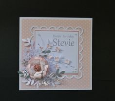 Feminine, SU Blushing Bride  CS, lots of die cuts from splitcoaststampers