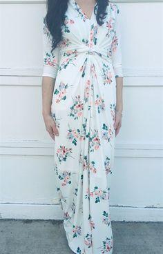 Stitch fix!! Baby shower dress. Long dress. sleeves. accentuates waist.