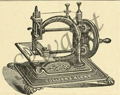 The Collier Alert sewing machine was a chainstitch Original Express model from Guhl & Harbeck, Germany.