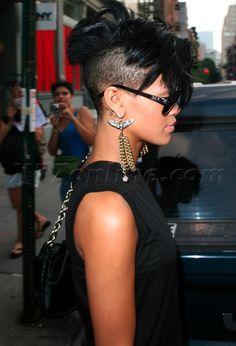 Rihanna - shaved sides <3