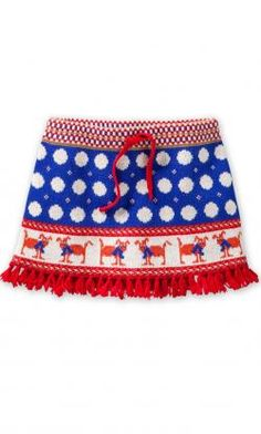 Oilily knitted wool skirt KIEKE dots & dogs