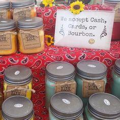 Soy candles & Bourbon...a fair trade!