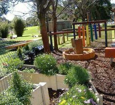 Treasure Island child care sensory garden – what a great example of incorporating a sensory garden into a child care facility