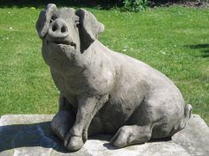 There Is A Varied Selection Of Pig Garden Statues In Our Collection  Including Favourites Like The Pot Bellied Pig To The Small Pigs That Were  Recently ...