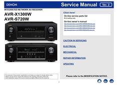 denon avr x1200w s710w a v receiver service manual and repair guide rh pinterest com denon avr 790 manual free Denon AVR 3312CI