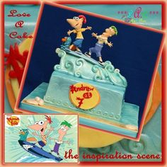 Phineas and Ferb - themed Birthday Cake