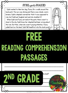 FREE READING COMPREHENSION PASSAGES #islaheartsteaching 2nd Grade Ela, Third Grade Reading, Guided Reading, Teaching Reading, Second Grade, Free Reading, Shared Reading, Reading Comprehension Passages, Reading Strategies