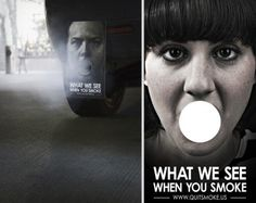 Guerilla Marketing - Quit Smoking : What we see when you smoke Guerilla Marketing, Guerrilla Advertising, Advertising Strategies, Social Advertising, Street Marketing, Creative Advertising, Advertising Campaign, Advertising Ideas, Viral Marketing