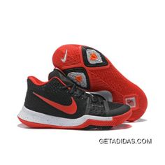 99c91f4841cf9d 2017 Nike Kyrie 3 Black Red White Basketball Shoes Discount