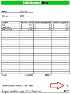 debt elimination worksheet templates and best free.html