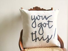 you got this decorative pillow cover / 18 by SassyStitchesbyLori