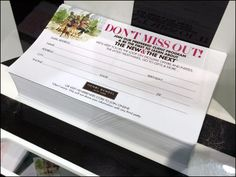"""""""Don't Miss Out"""" admonishes this in-store Henri Bendel® outreach. United States Postal Service, Retail Merchandising, Henri Bendel, The Next, Get One, Close Up, News, Retail, Retail Boutique"""