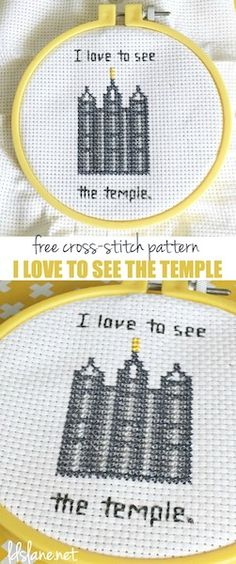 I Love to See the Temple - free pattern - LDS Lane