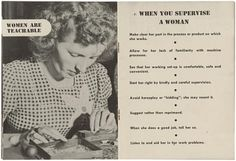 """""""Women are teachable"""", c.1940s  -National Archives, Southeast Region"""