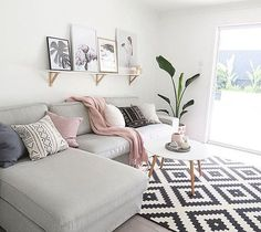 The lovely living room of our customer @becdarragh  a picture ledge is such a great way to easily change the look of your room, featuring our Vee Speers print Birthday party #23 available @immyandindi - thank you Bec