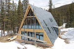 Trio 150, Colorado A Frame Cabin, A Frame House, Cabin Kits, Lake Arrowhead, Cozy Cabin, Affordable Housing, Kit Homes, Home Crafts, Colorado