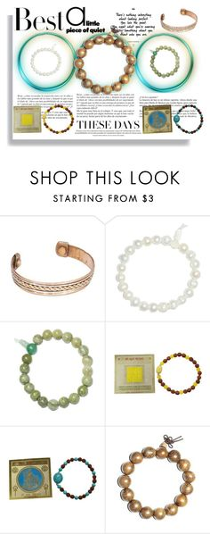 """""""Tibetan Beads Boho Stetch Bracelet"""" by boho-chic-2 ❤ liked on Polyvore featuring GURU, Bodhi, H&M and Whiteley"""