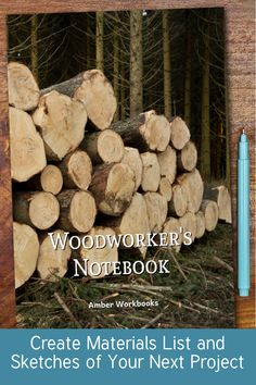 Plan your next woodworking project with the help of this note book, with a materials list and special pages for sketches to flesh out your ideas. Woodworking Journal, Woodworking Ideas, Project Planner, Kindle App, Sketch Design, The Help, Free Apps, This Book, Notebook