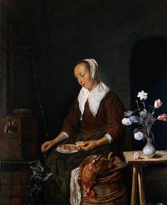 Metsu Gabriel. Woman Eating