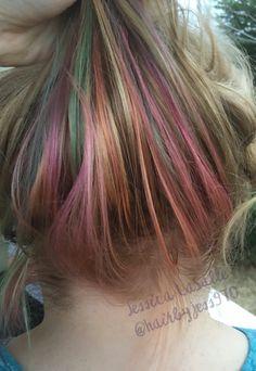 Hidden rainbow hair Pastel hair