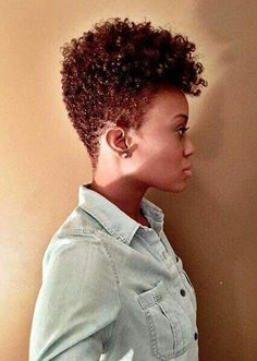Natural hair tapered cut lovers.