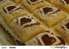 Jablonecké lístkové řezy recept - TopRecepty.cz French Toast, Treats, Breakfast, Sweet, Hampers, Bakken, Sweet Like Candy, Morning Coffee, Candy