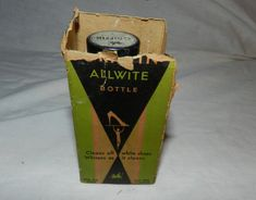 Vintage Griffin Allwite shoe polish or by UncommonArtSupplies