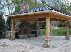 Outdoor fireplace designs diy backyard fireplace ideas outdoor patio with fireplaces plans i free diy outdoor . Backyard Fireplace, Backyard Patio, Backyard Landscaping, Outdoor Fireplaces, Fireplace Ideas, Fireplace Kitchen, Backyard Kitchen, Pergola Patio, Brick Fireplace