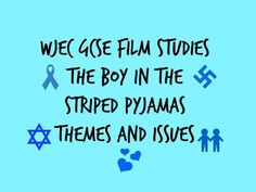 This powerpoint explores the Themes and Issues in The Boy in the Striped Pyjamas for WJEC GCSE FILM STUDIES PAPER 2. It lists the themes and issues and students are then asked to identify the appropriate ideas from shots from the film. There is an extende...
